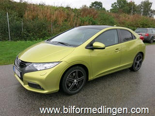 Honda Civic 1.8 i-VTEC 5dr Executive Aut. Skinn Drag Svensksåld 2012