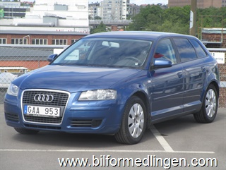 Audi A3 1.9 TDI Sportback 105hk Proline, Climatronic, Attraction 2008
