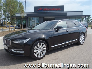 Volvo V90 T8 AWD Twin Engine 390hk Inscription VOC BLIS Drag Momsbil Svensksåld 1 Ägare 2019