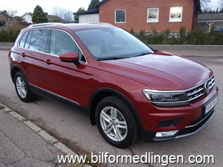 Volkswagen Tiguan 2.0 TDI 4MOTION 190hk DSG Executive GT Dynamic Light Assist Drag panoramatak Dieselvärm/fjärr Svensksåld 1 ägare Leasbar 2017
