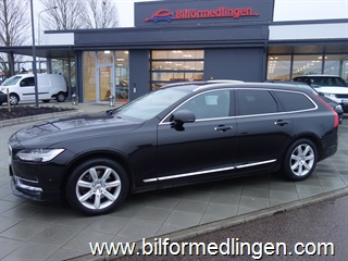 Volvo V90 D5 AWD 235hk Inscription Aut Momsbil Head up VOC BLIS Panoramatak Svensksåld 1 Ägare 2017