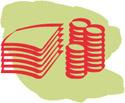 bild på ilustrerade pengar